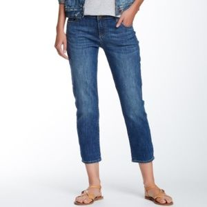 Kut from the Kloth Bardot Crop Skinny Boyfriend